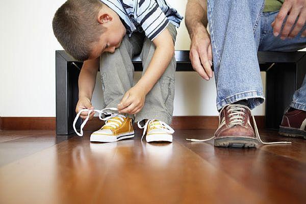 shoe-tying
